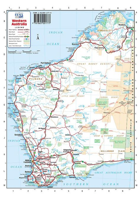 road map  western australia  travel information