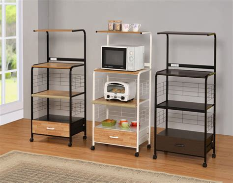 kitchen carts islands utility tables kitchen microwave cart with electrical socket 1701 ebay