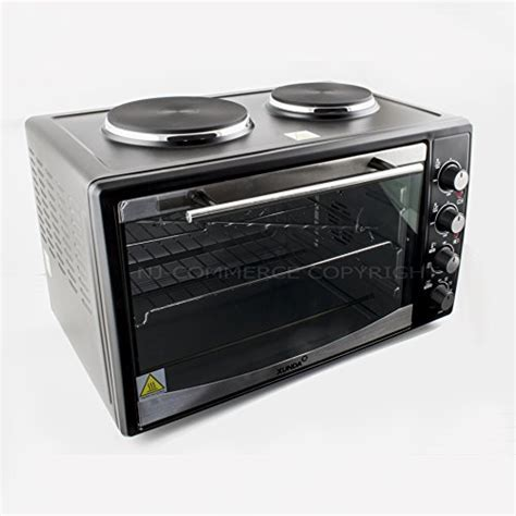 45L Electric Oven 2 Hot Plate Convection Grill Hob