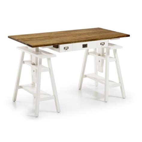 bureau informatique bois massif bureau d 39 architecte bois blanc achat vente bureau