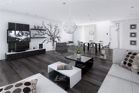 black and white dining room ideas 14 black and white living dining room interior design ideas