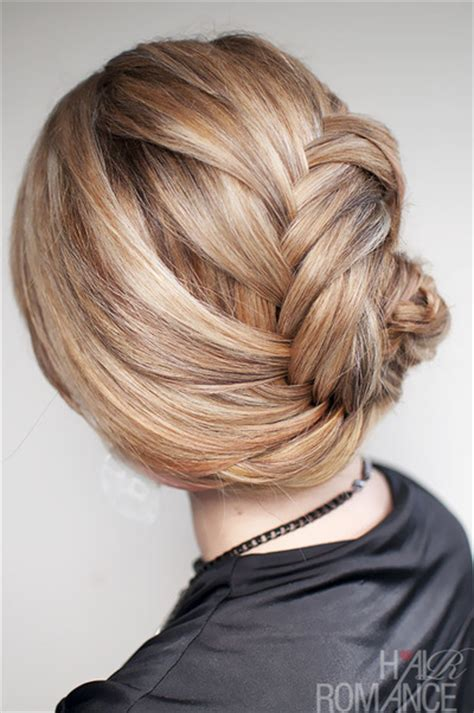 hairstyle   french fishtail braid chignon