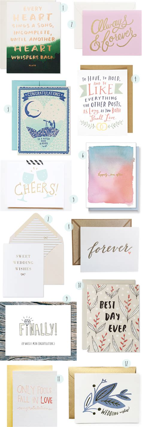 Ideas to use in a card of congratulations. Stationery A-Z: Wedding Congratulations Cards
