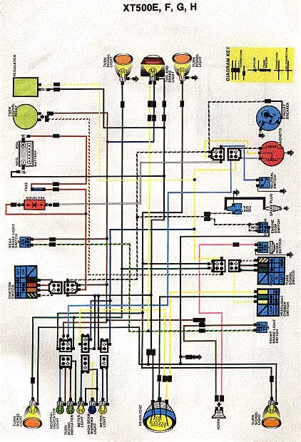 Wiring Diagram Yamaha Xt225 by Xt500 Wiring Vintage Dirt Bikes Thumpertalk
