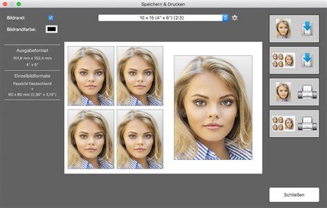 passbild app fuer mac os  biometrische passfotos