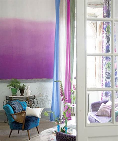modern wall painting ideas watercolor  ombre