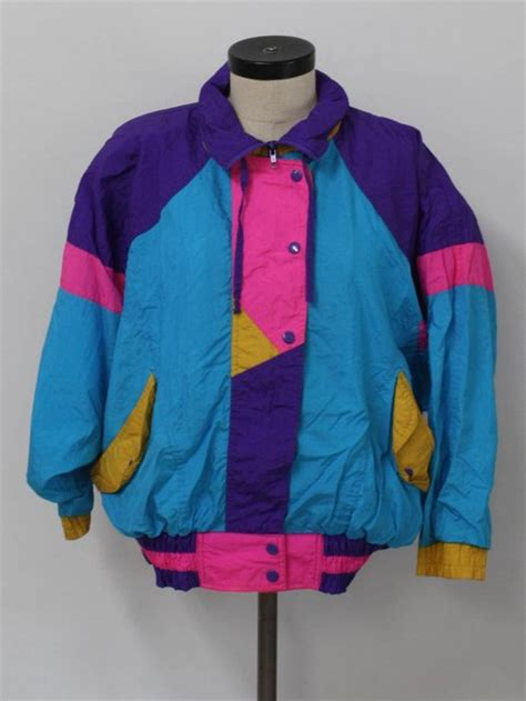 jacket retro 90s style colorful vintage windbreaker