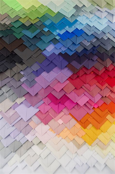 transfixing 3d paper patterns by maud vantours colossal