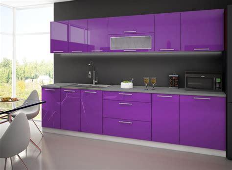 cuisine 3m de cuisine complete lyna 3m violet destockage grossiste