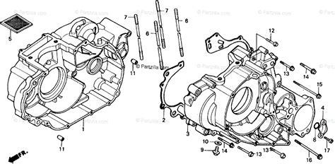 Honda Atv Oem Parts Diagram For Crankcase Partzilla