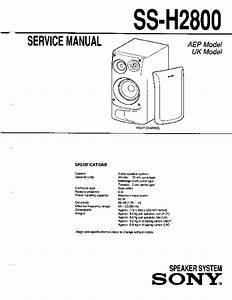 Sony Mhc-2800 Service Manual