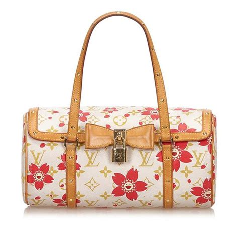 louis vuitton papillon cherry blossom white canvas