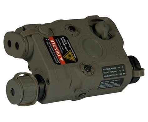 lancer tactical peq  red laser flashlight ir combo foliage green
