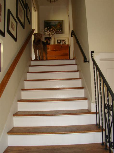 wrought iron spindles painting stair risers ideas stair risers ideas of paint