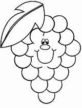 Coloring Fruit Grape Advertisement Grapes sketch template