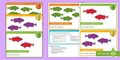 * New * Eyfs Maths Counting Chilli Challenges Under The Sea Colouring Eyfs