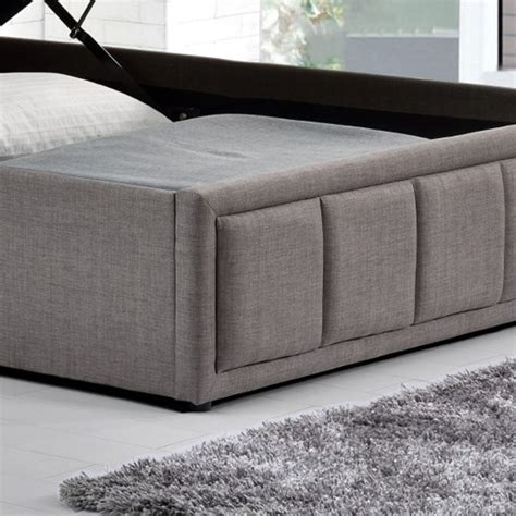 Grey Fabric Bed With Mattress by Hannover Grey Fabric Ottoman Storage Bed With 4 Mattress