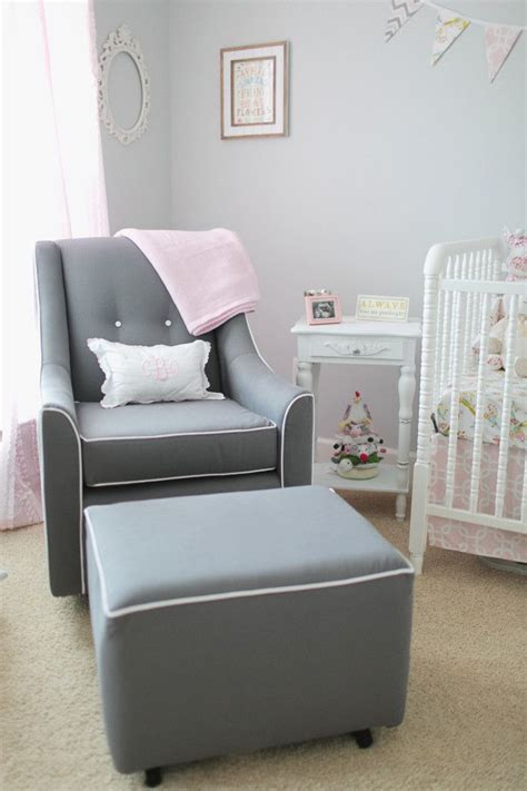 Savvy Upholstered Glider And Ottoman By Castle by Sweet Caroline S Nursery Ottomans Nursery Ideas And