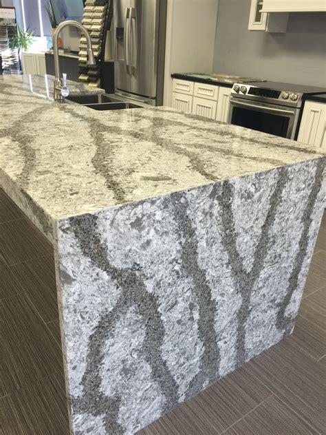 cambria galloway quartz countertop    waterfall