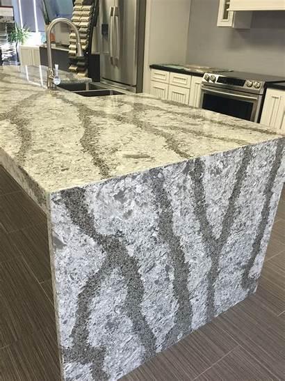 Quartz Cambria Galloway Countertops Countertop Waterfall Kitchen