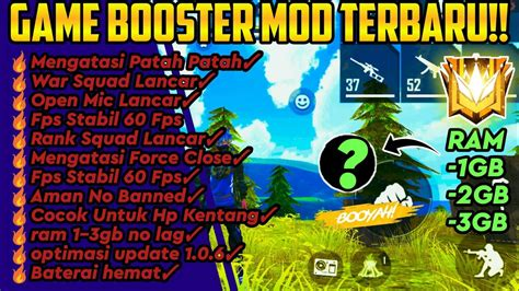 Enjoy less ping, less bugs and anti lag. GAME BOOSTER FREE FIRE MOD ‼️ CARA MENGATASI LAG DI FREE ...