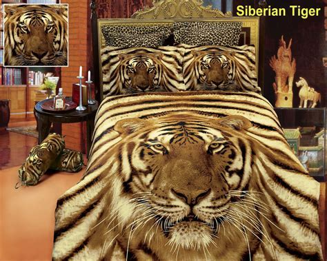 Siberian Tiger by Dolce Mela, 6 PC Duvet Cover Set, Bed in