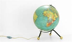 Lampe Globe Terrestre : lampe mappemonde vintage ~ Teatrodelosmanantiales.com Idées de Décoration