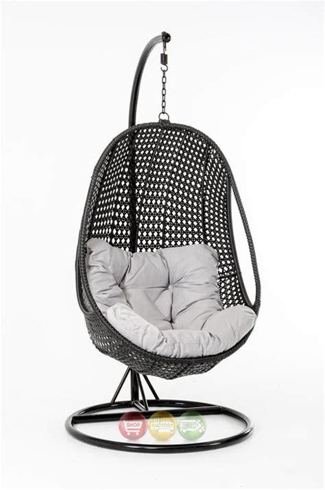 oahu outdoor hanging pod chair black rattan shop factory