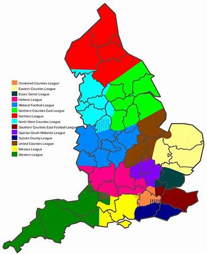 Football League England Areas English System Levels