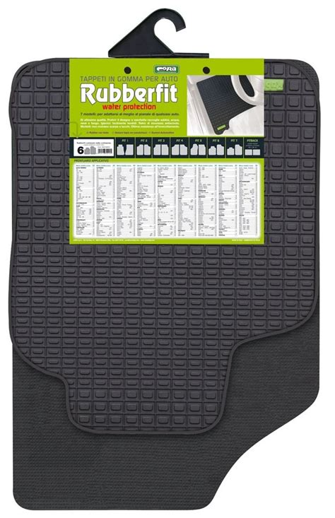 Tappeti Auto In Gomma by 9998 000134016 Tappeti Auto In Gomma Rubberfit Fit 6 Cora