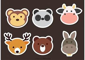 Cute Animal Face Vector Icons - Download Free Vector Art ...