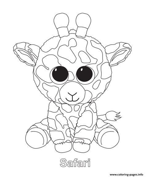coloring boo print safari beanie boo coloring pages animal coloring