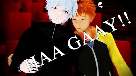 【mmd X Tokyo Ghoul】haa Gaay!!【kaneki, Hide & Sasako】