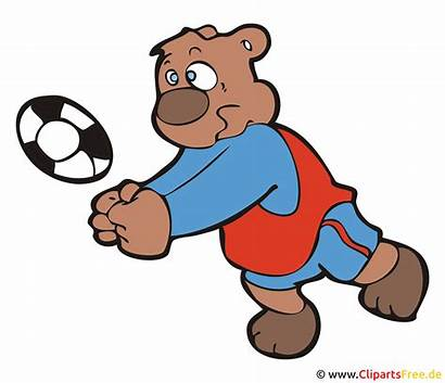 Volleyball Cartoon Clipart Bild Clip Grafik Illustrasjon