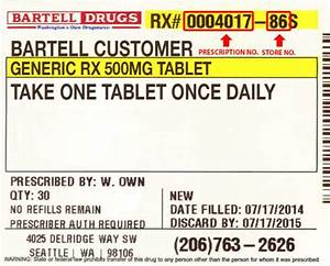 The anatomy of a prescription label the honest apothecary for How to read medication labels