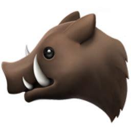 boar emoji uf