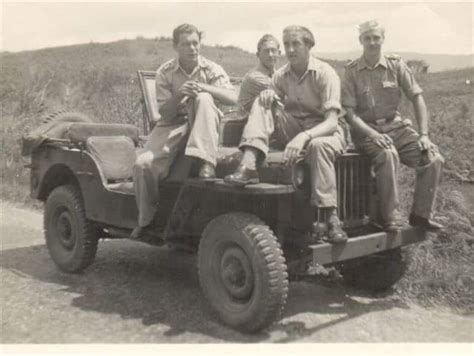 old vehicles willys mb jeep used by troops in indonesia