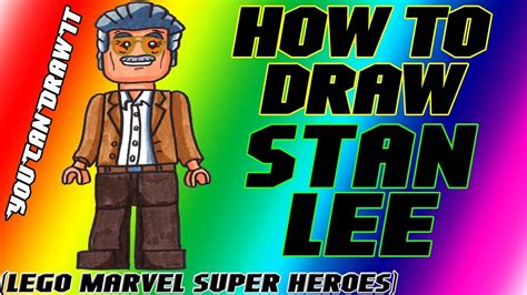 How To Draw Stan Lee from Lego Marvel Super Heroes ...