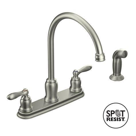 moen kitchen faucets shop moen caldwell spot resist stainless 2 handle high arc