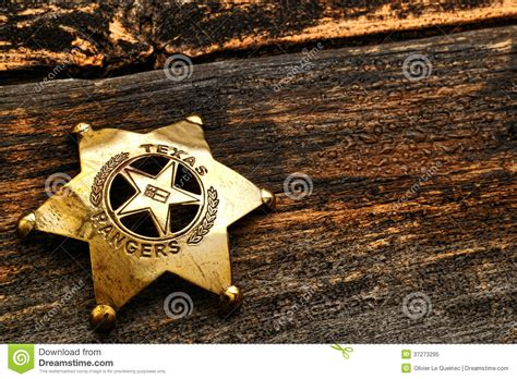 american west texas ranger antique lawman badge stock