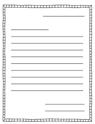 letter writing template letter writing  templates