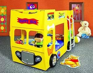 Doppelbett Für Kinder : happy bus doppelbett etagenbett mit led lampen zwei ~ Lateststills.com Haus und Dekorationen
