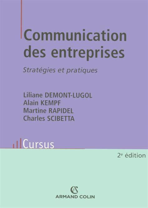 communication des entreprises strategies  pratiques