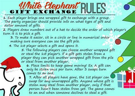 white elephant gift exchange rules white elephant gifts