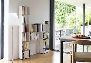 Bibliothèque Design Meuble : meuble biblioth que design 30 cm m tal blanc 4 niveaux ~ Voncanada.com Idées de Décoration