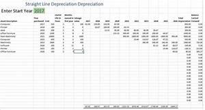 depreciation schedule free depreciation excel template With straight line depreciation template