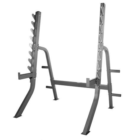 xmark commercial  gauge adjustable squat rack  plate storage xm  fitness sports