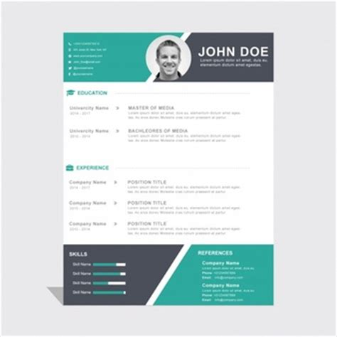 16593 template for resumes curriculum vitae design vector free