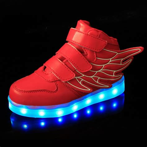 Boys Light Up Shoes by New Boys Led Light Up Lace Up Luminous Sneakers
