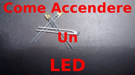 les a leds 220v come accendere un led